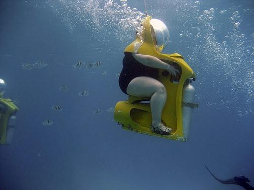 え!こんな太った女性でも水中散...