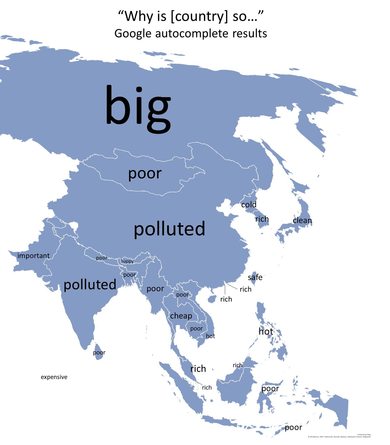278e777ffe86 英語圏の人がどうしても知りたい各国のキーワードが分かるアジアマップ   naglly.com