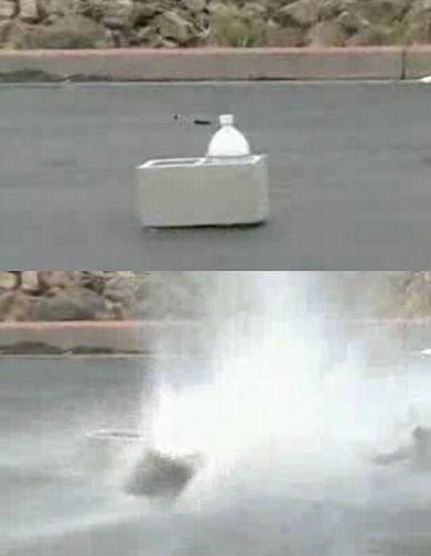 爆発 ドライ アイス